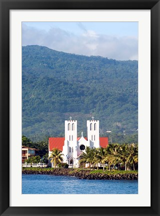 Framed Catholic Church, Apia, Upolo Island, Western Samoa Print