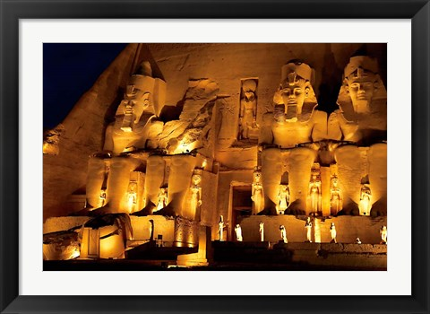 Framed Egypt, Abu Simbel, Greater Temple of Ramses II, Columns Print