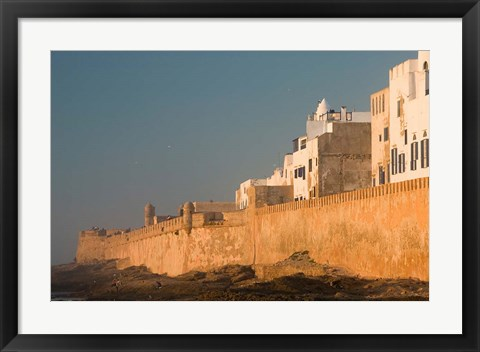 Framed MOROCCO, Atlantic Coast, ESSAOUIRA: Town, Sunset Print