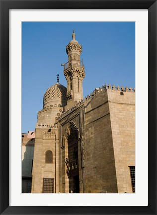 Framed Qait-Bey Muhamadi Mosque or Burial Mosque of Qait Bey, Cairo, Egypt Print