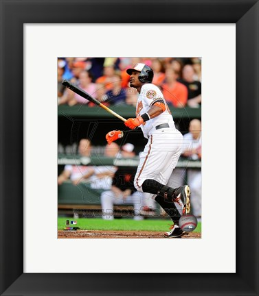 Framed Adam Jones 2014 baseball Print