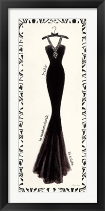 Framed Couture Noir Original III with Border Print