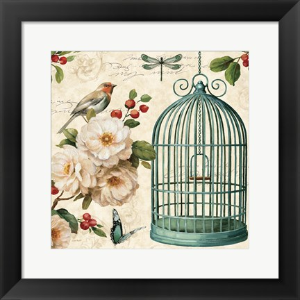 Framed Free as a Bird I Print