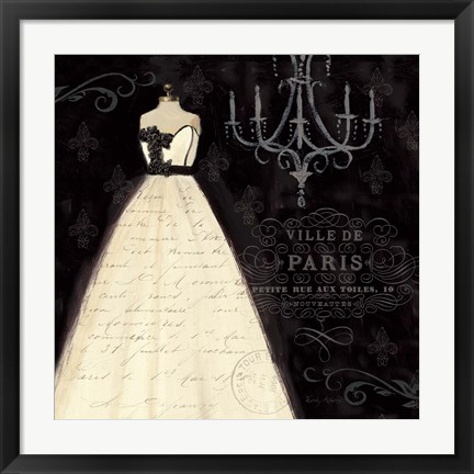 Framed French Couture I Print