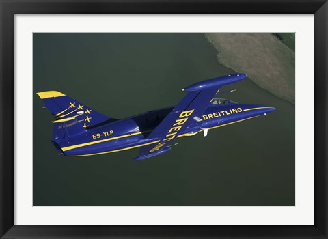 Framed Flying with the Aero L-39 Albatros in flight Print