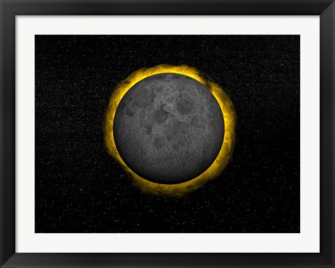 Framed Total eclipse of the Sun Print