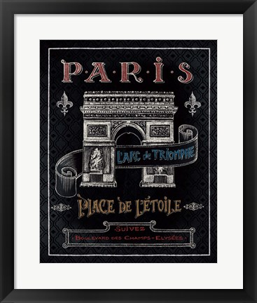 Framed Travel to Paris II Print