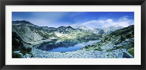 Framed View of Ribno Banderishko Lake in Pirin National Park, Bulgaria Print
