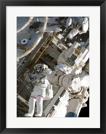 Framed Construction and Maintenance on the International Space Station Print