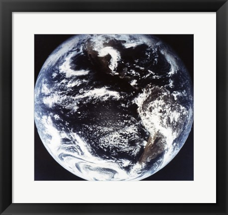 Framed Earth Outter Space Print