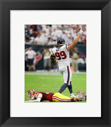 Framed J.J. Watt 2014 Action Print