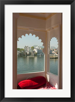 Framed View from a restaurant, Udaipur, Rajasthan, India Print