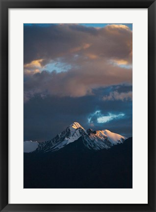 Framed Landscape of Stok Mountain Range, Ladakh, India Print