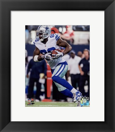 Framed Dez Bryant football 2014 Print
