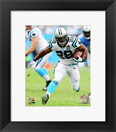 Framed Jonathan Stewart with the ball 2014 Print