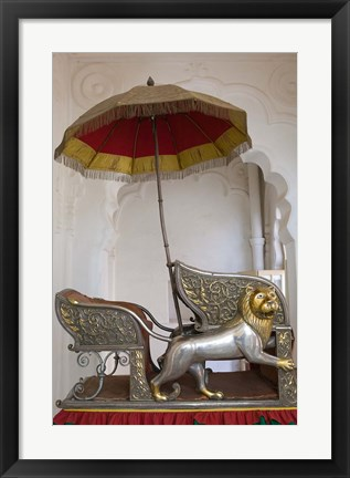 Framed Sedan Chair of the Maharajah, Rajasthan, India Print