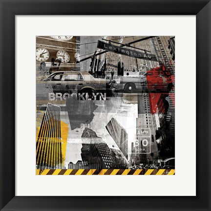 Framed New York Streets II Print