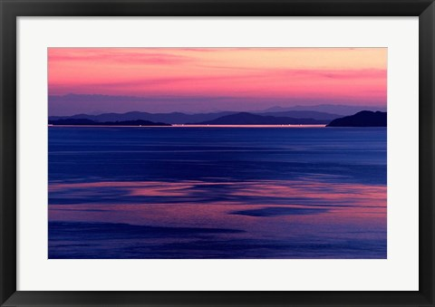 Framed Indonesia, Sulawesi, Togian islands Sunset Print