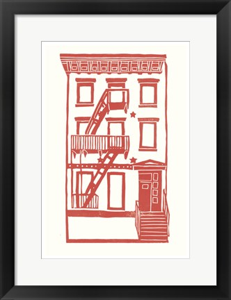 Framed Williamsburg Building 7 (S. 4th and Driggs Ave.) Print