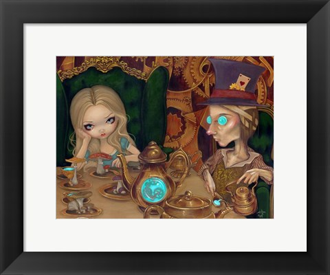 Framed Alice and the Mad Hatter Print