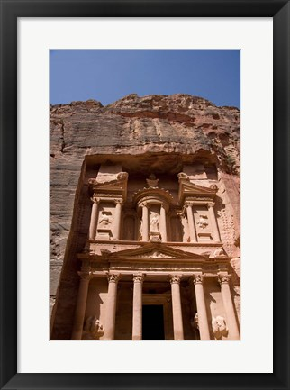 Framed Jordan, Petra, Ancient Architecture, Treasury Print