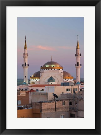Framed Jordan, Kings Highway, Madaba, Town view with mosque Print