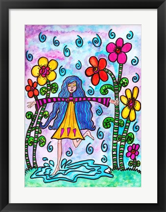 Framed Girl Dancing Barefooted Print