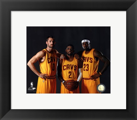 Framed Kevin Love, Kyrie Irving, & LeBron James 2014 Print