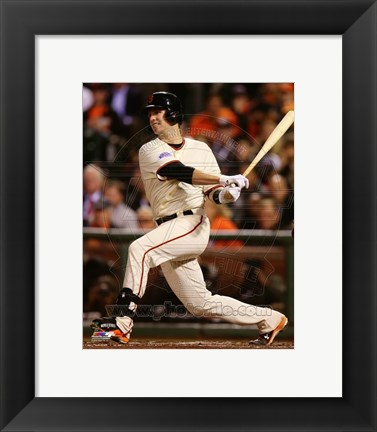 Framed Buster Posey Game 4 of the 2014 World Series batting Print