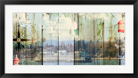 Framed Puget Sound Print