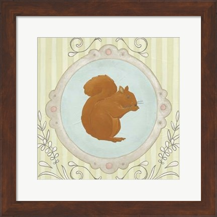 Framed Forest Cameo I Print