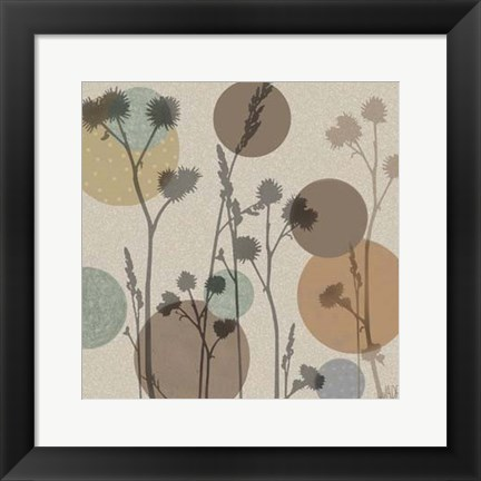 Framed Polka-Dot Wildflowers I Print
