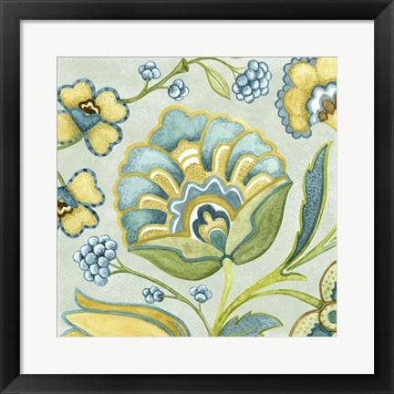 Framed Decorative Golden Bloom III Print