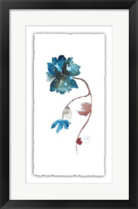 Framed Floral Watercolor I Print