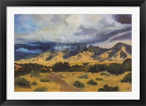 Framed Desert Mountain Light Print