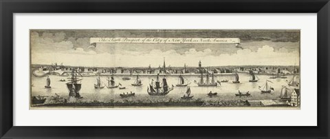 Framed South Prospect of the City of New York Print