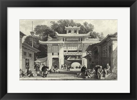 Framed Scenes in China V Print