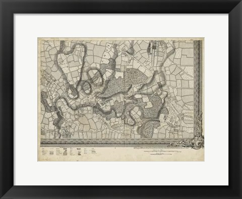 Framed Map of London Grid XVI Print