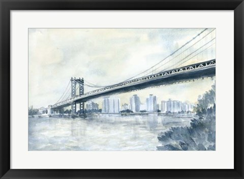 Framed City Bridge II Print