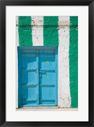 Framed Oman, Sharqiya Region, Asaylah. Coffee Shop Exterior Print