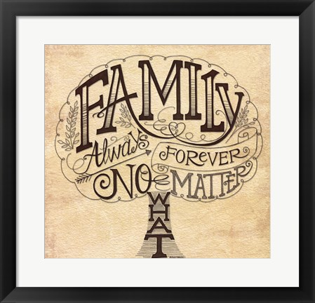 Framed Family - Always and Forever Print