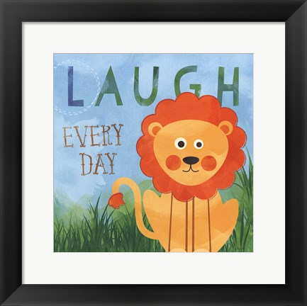 Framed Laugh Every Day Print