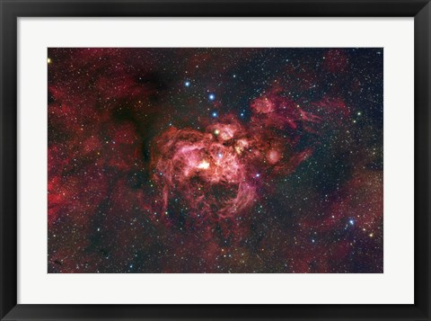 Framed Emission Nebula Located in the Constellation Scorpius (NGC 6357) Print