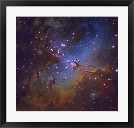 Framed Eagle Nebula in Serpens Print