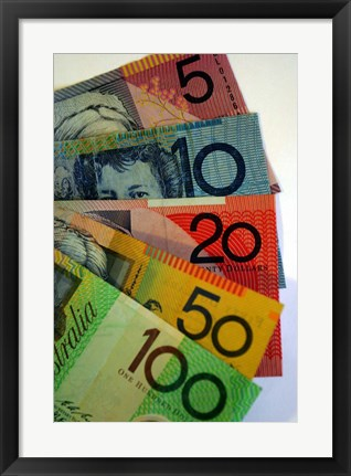 Framed Australian Money Print