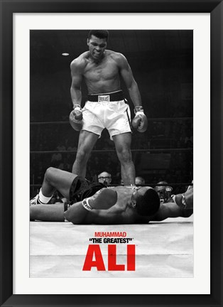 Framed Ali - Liston - First Round Print
