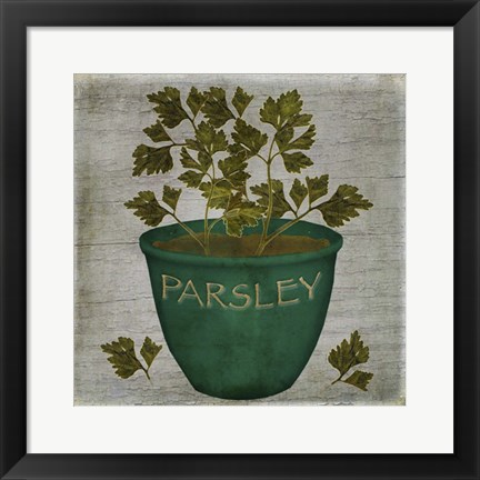 Framed Herb Parsley Print