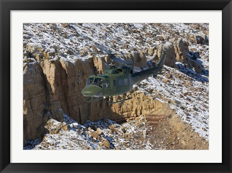 Framed UH-1N Twin Huey, Kirtland Air Force Base, New Mexico Print