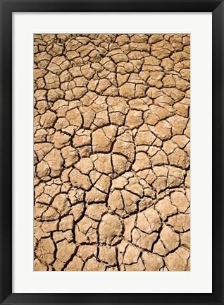 Framed Dry Irrigation Pond, Strzelecki Track, Outback, South Australia, Australia Print