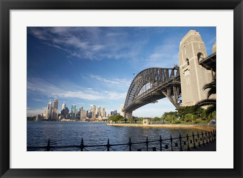 Framed Australia, New South Wales, Sydney Harbour Bridge and CBD Print